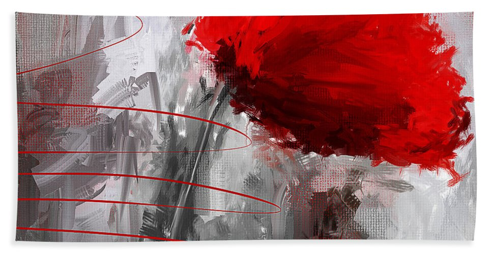 Poppies Bath Sheet featuring the digital art Tint Of Red by Lourry Legarde