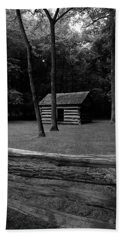 Cades Cove Bath Sheet featuring the photograph Tipton Place In Cades Cove by Nunweiler Photography
