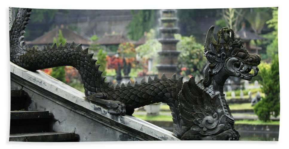 Bali Bath Sheet featuring the photograph Tirta Gangga Bali Indonesia by Bob Christopher