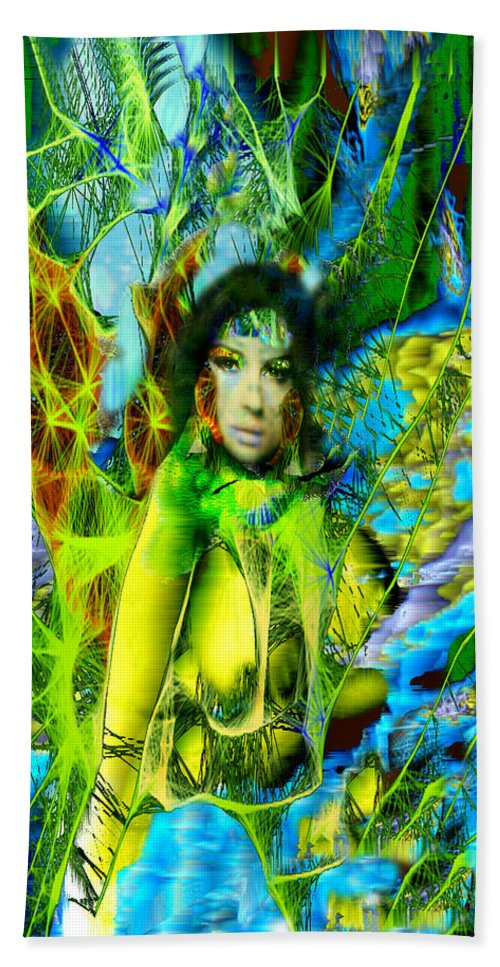 Titania Hand Towel featuring the digital art Titania-midsummers Night Dream by Seth Weaver