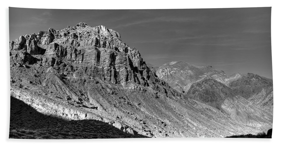 Titus Canyon Bath Sheet featuring the photograph Titus Canyon Peak by Peter Tellone