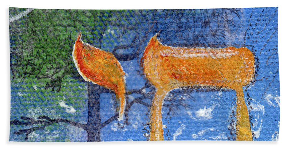 Life Hand Towel featuring the painting To Life by Linda Woods