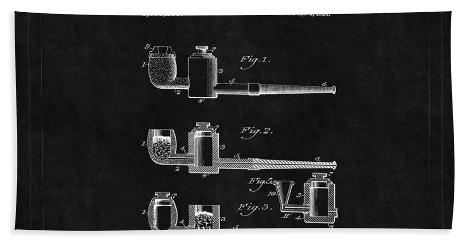 Pipe Bath Sheet featuring the photograph Tobacco Pipe Patent 4 by Andrew Fare
