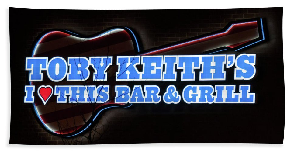Bar & Grill Hand Towel featuring the photograph Toby Keith's by Guy Whiteley