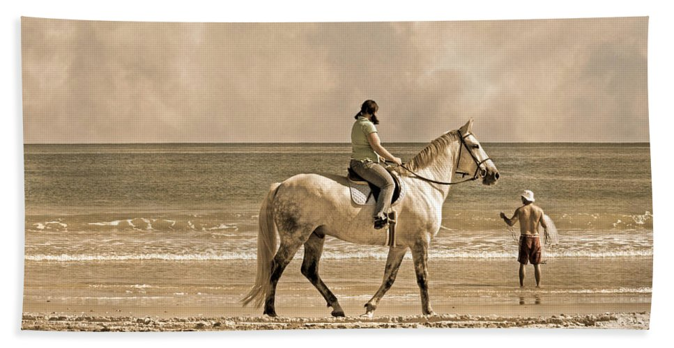 Horse Bath Sheet featuring the photograph Together We Go by Betsy Knapp