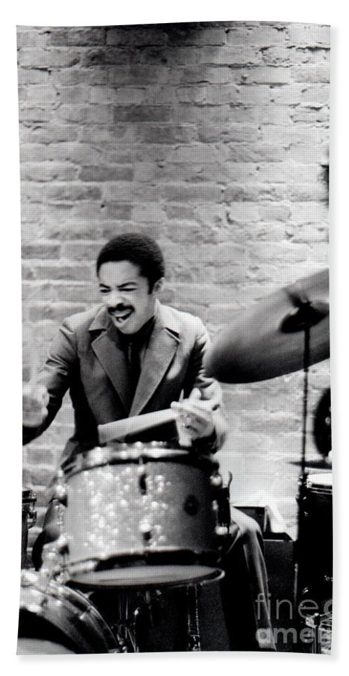 Drummer Hand Towel featuring the photograph Tony Williams At The Penthouse by Dave Coleman