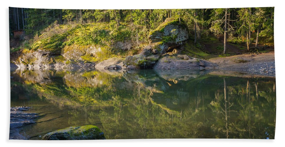 British Columbia Hand Towel featuring the photograph Top Bridge by Carrie Cole