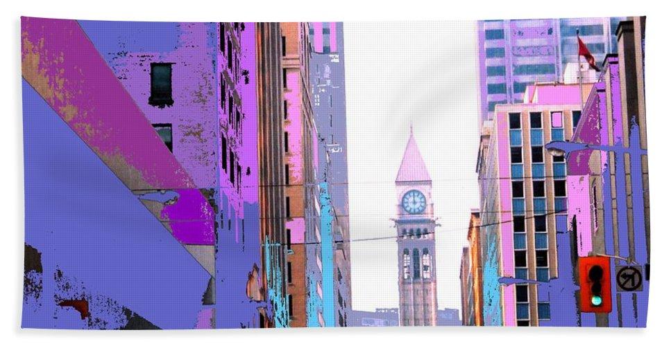 Bay Hand Towel featuring the photograph Toronto Old City Hall by Ian MacDonald