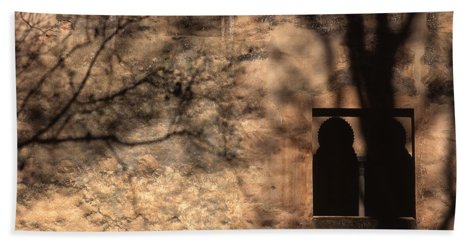 The Alhambra Bath Sheet featuring the photograph Torre De Las Infantas In The Alhambra by Guido Montanes Castillo