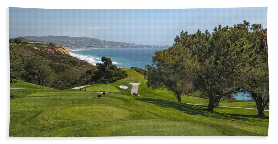 3scape Bath Towel featuring the photograph Torrey Pines Golf Course North 6th Hole by Adam Romanowicz
