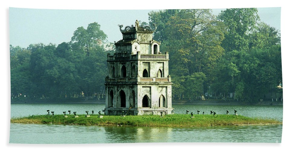 Vietnam Bath Sheet featuring the photograph Tortoise Tower 01 by Rick Piper Photography