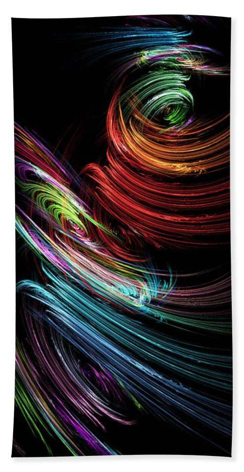 Toupille Hand Towel featuring the digital art Toupillon by RochVanh