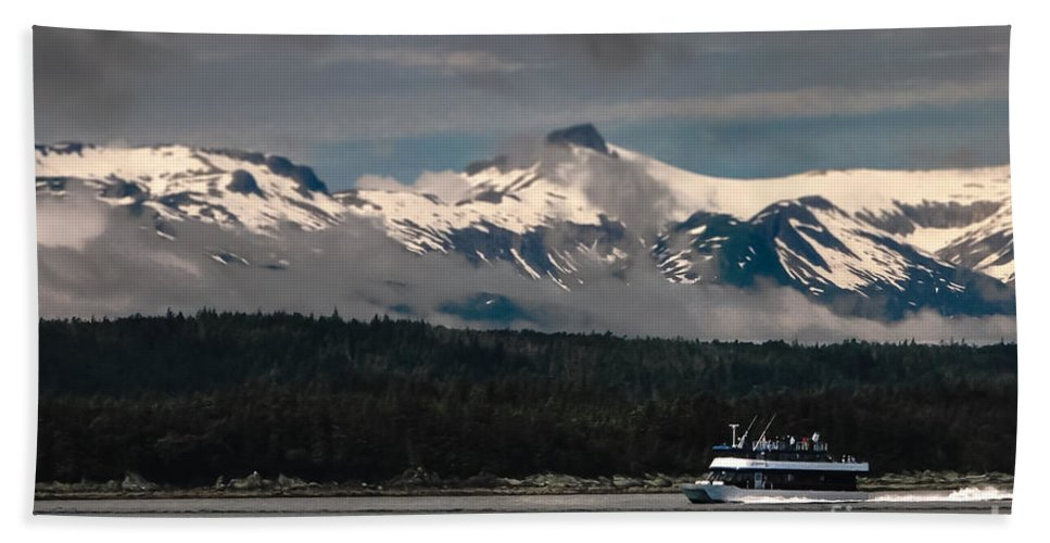 Alaska Hand Towel featuring the photograph Touring Alaska by Robert Bales