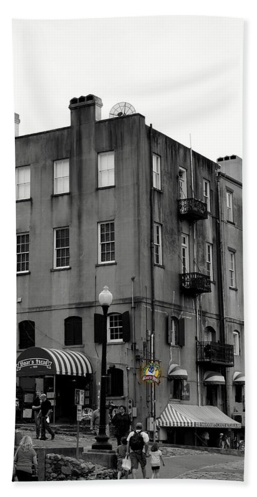 Digital Photograph Hand Towel featuring the photograph Touring Savannah by Laurie Pike
