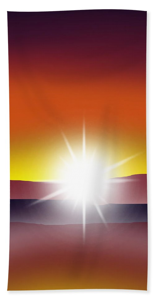 Sunset Bath Sheet featuring the digital art Toward The Light 2 Of 3 by Peter Stevenson