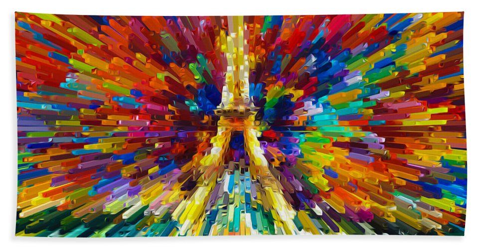 Tower Bath Sheet featuring the digital art Tower by Jeelan Clark