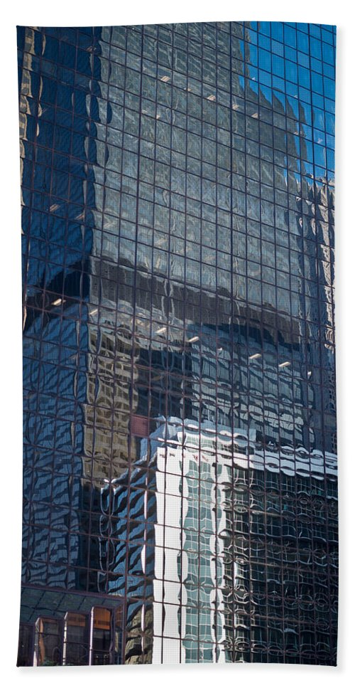 Chicago Hand Towel featuring the photograph Tower Reflections by Steve Gadomski