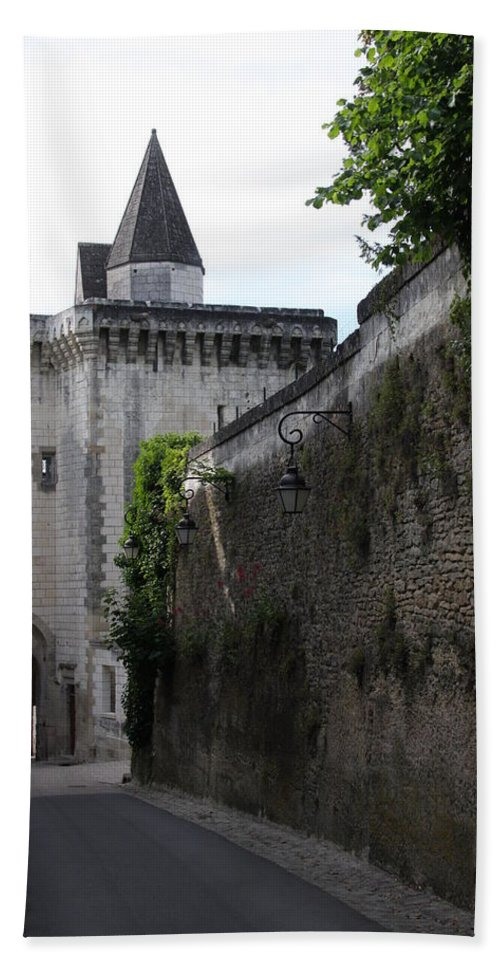 Town Gate Hand Towel featuring the photograph Town Gate - Loches - France by Christiane Schulze Art And Photography