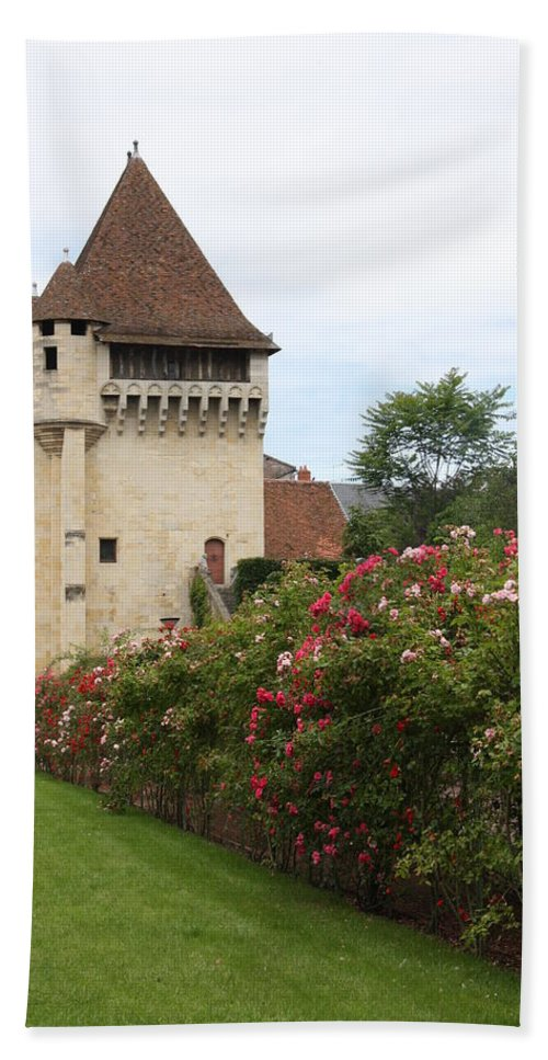 Town Gate Hand Towel featuring the photograph Town Gate - Nevers by Christiane Schulze Art And Photography