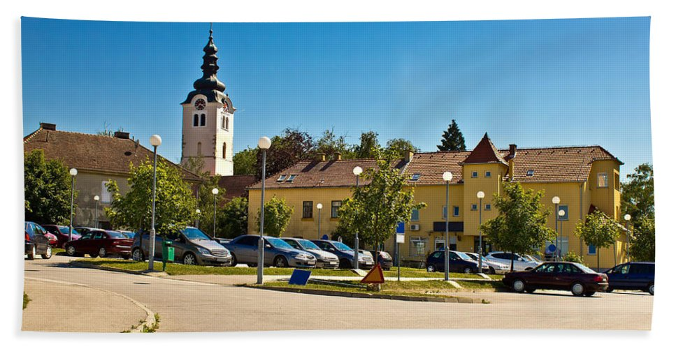 Vrbovec Hand Towel featuring the photograph Town Of Vrbovec In Croatia by Brch Photography