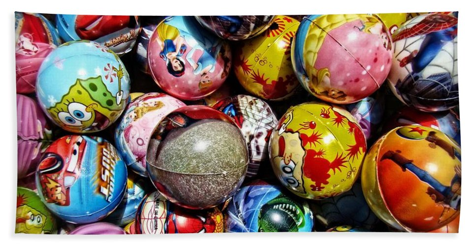 Toys Bath Sheet featuring the photograph Toy Balls by Alice Gipson