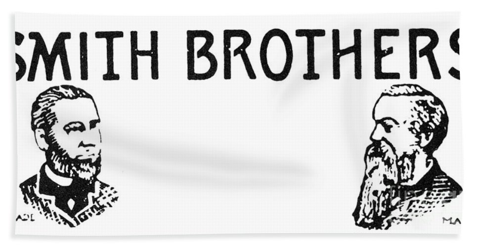 19th Century Bath Sheet featuring the photograph Trademark: Smith Brothers by Granger