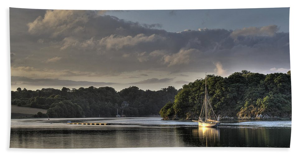 Traditional Boat Bath Sheet featuring the photograph Traditional Sailing Boat by Gary Eason