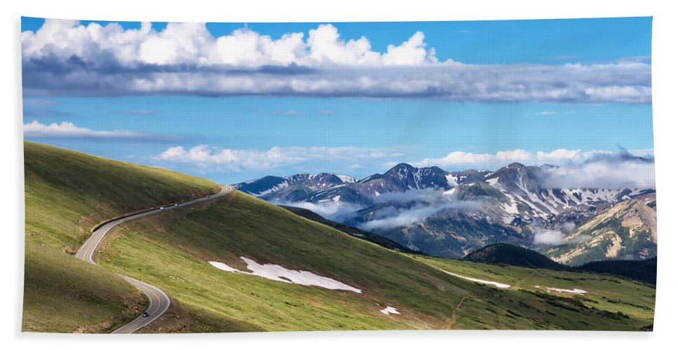 Rmnp Hand Towel featuring the photograph Trail Ridge Road In Rocky Mountain National Park by Ronda Kimbrow