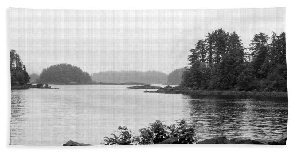 Black And White Bath Sheet featuring the photograph Tranquil Harbor by Victoria Harrington