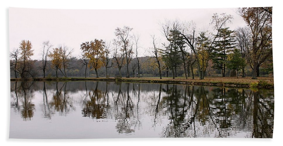 Lake Hand Towel featuring the photograph Tranquil Reflections by Ely Arsha