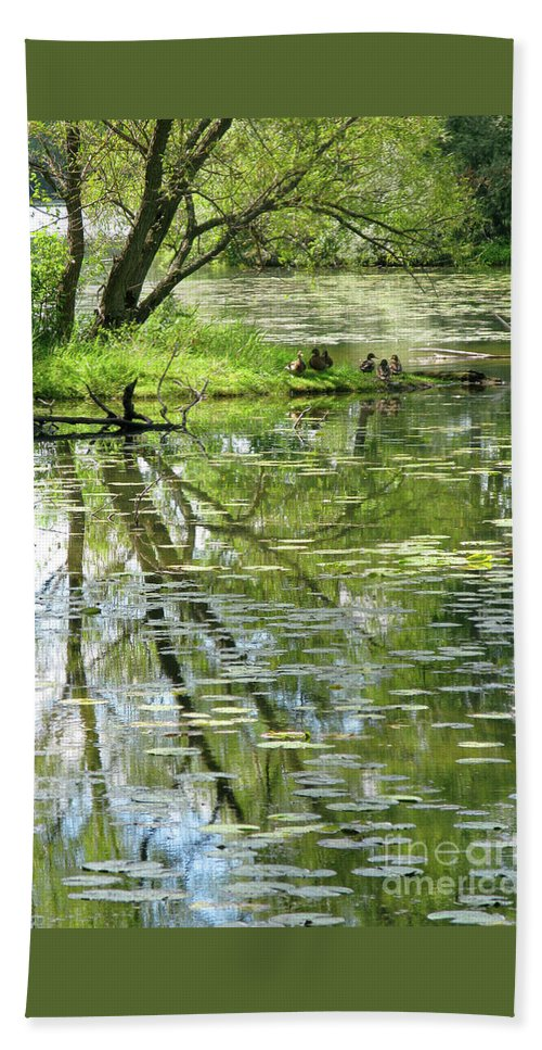Reflection Bath Towel featuring the photograph Tranquility by Ann Horn