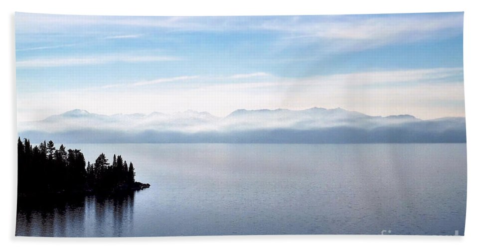 Peaceful Bath Sheet featuring the photograph Tranquility - Lake Tahoe by John Waclo