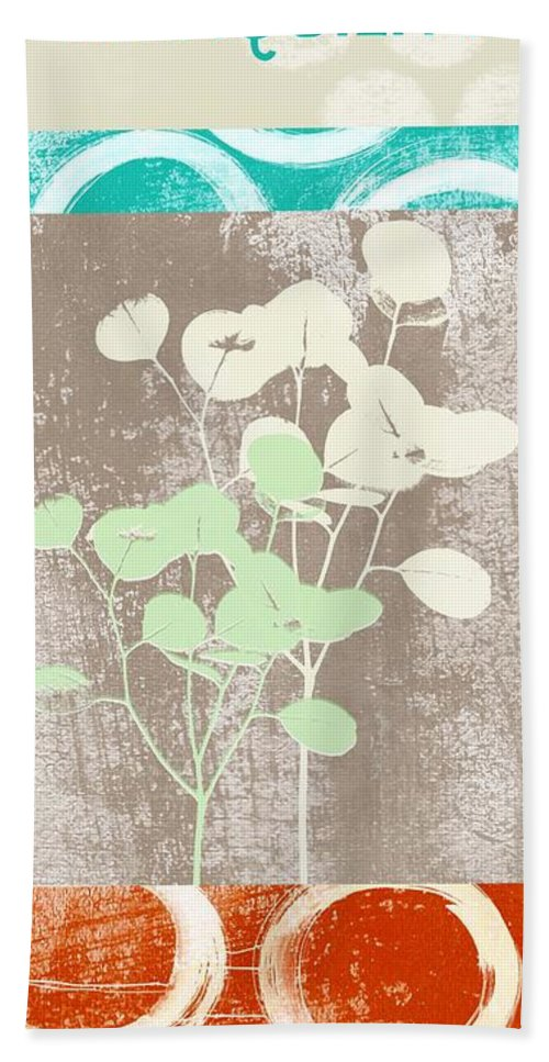 Tranquility Bath Towel featuring the painting Tranquility by Linda Woods