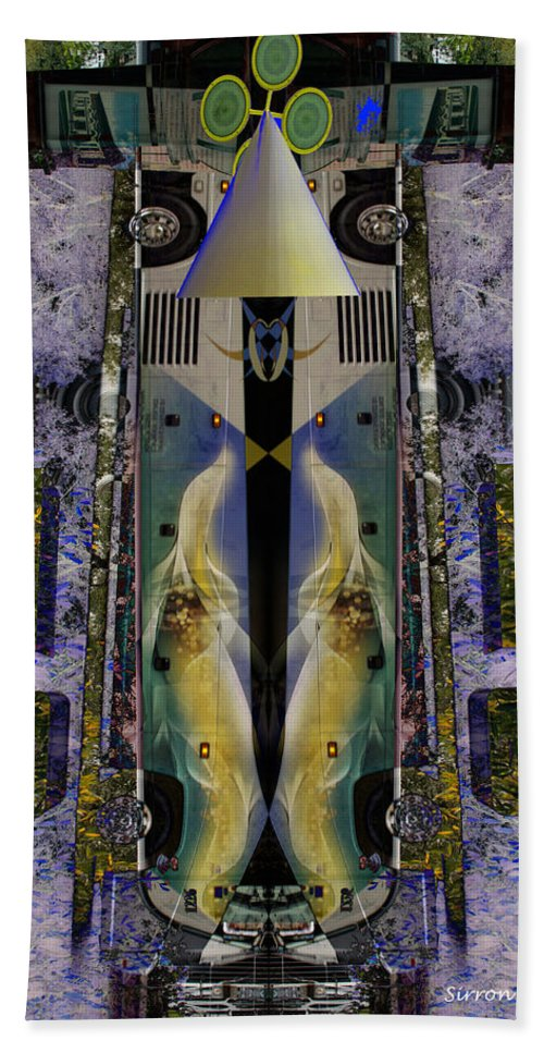 Abstract Hand Towel featuring the photograph Transformers Transition Bus Man by Sirron Kyles