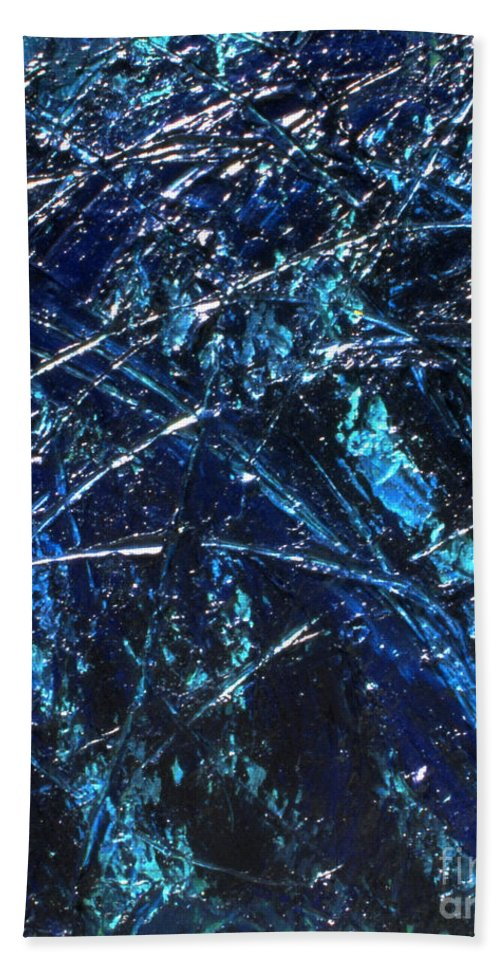 Abstract Hand Towel featuring the painting Transitions I by Dean Triolo