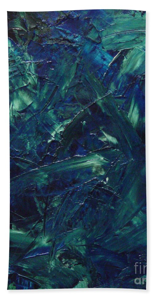 Abstract Hand Towel featuring the painting Transtions Xi by Dean Triolo