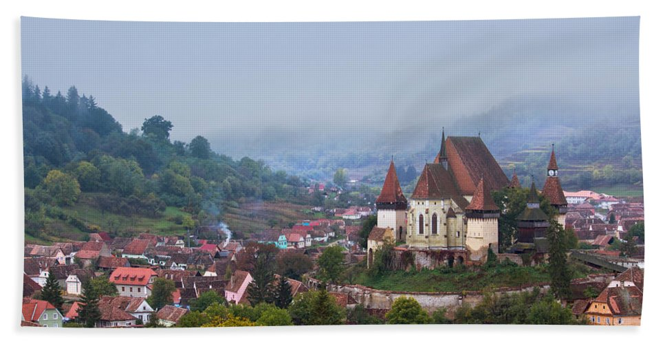Architecture Hand Towel featuring the photograph Transylvania by Mircea Costina Photography