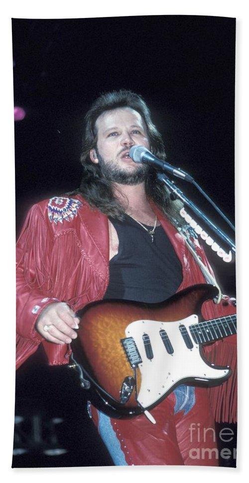 Guitarist Hand Towel featuring the photograph Musician Travis Tritt  by Concert Photos