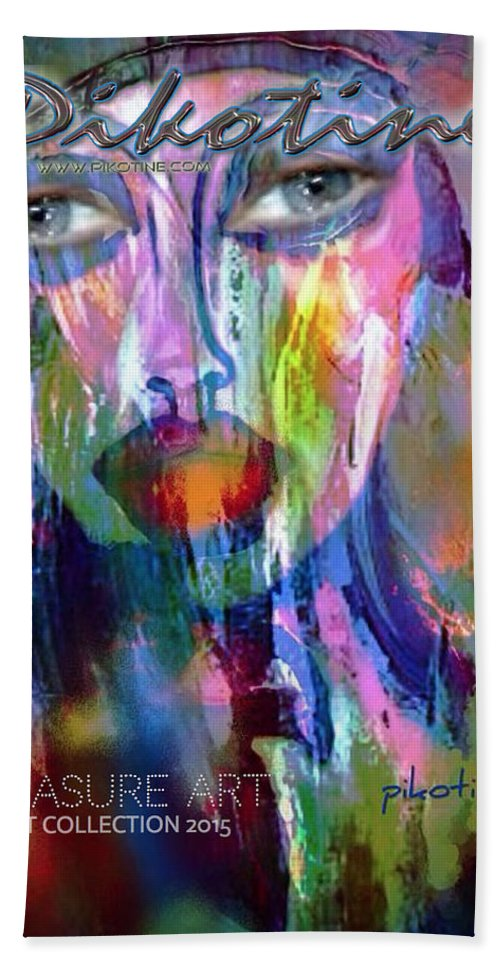 Treasure Art Collection Hand Towel featuring the digital art Treasure Art Collection by Pikotine Art