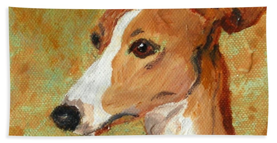 Acrylic Bath Towel featuring the painting Treasured Moments by Cori Solomon