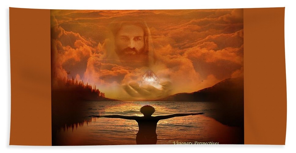 Jesus Bath Sheet featuring the digital art Treasures Of Heaven by Jewell McChesney