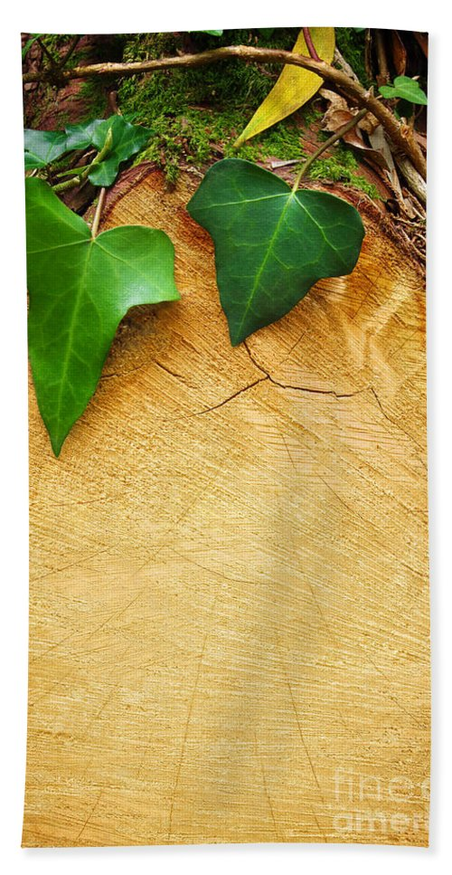 Abstract Hand Towel featuring the photograph Tree Background by Carlos Caetano