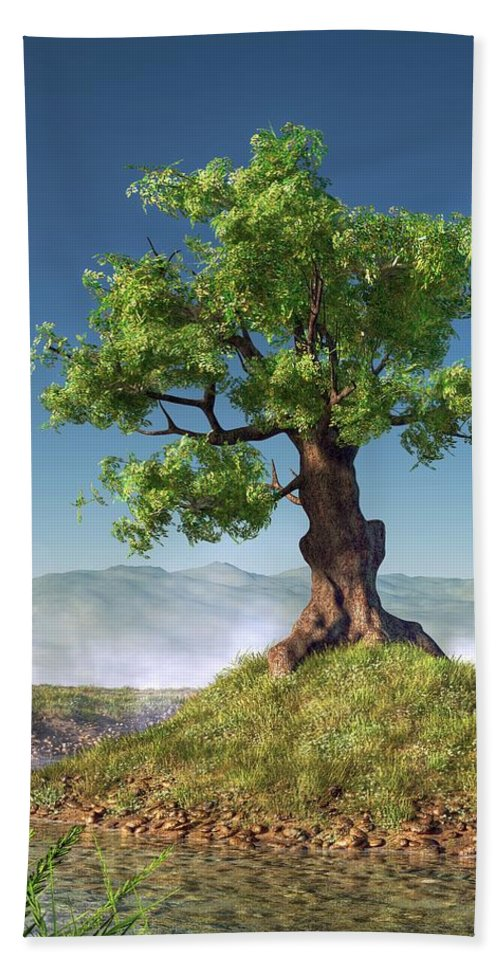 Tree Hand Towel featuring the digital art Tree by Daniel Eskridge