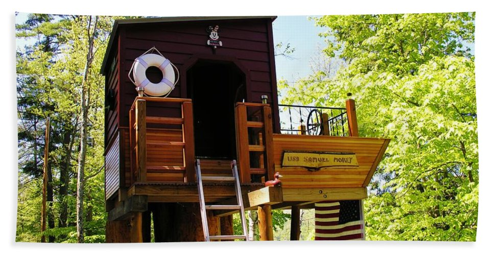Tree House Hand Towel featuring the photograph Tree House Boat 2 by Sherman Perry