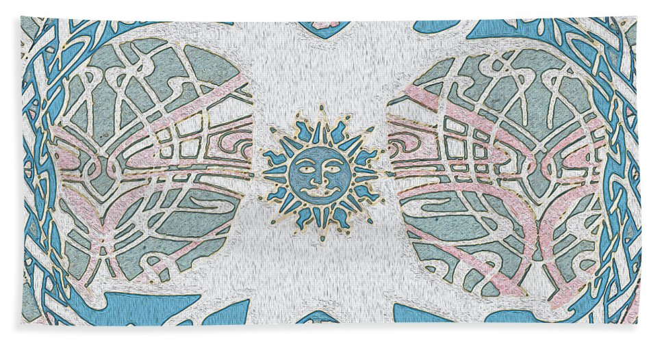Waters Edge Hand Towel featuring the digital art Tree Of Life Waters Edge by Amelia Carrie