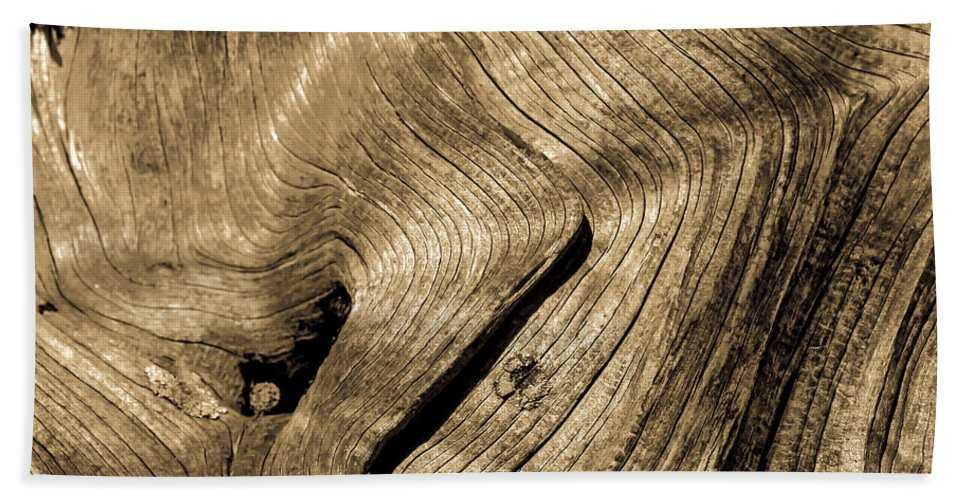 Abstract Bath Sheet featuring the photograph Tree Rings by Robert Bales