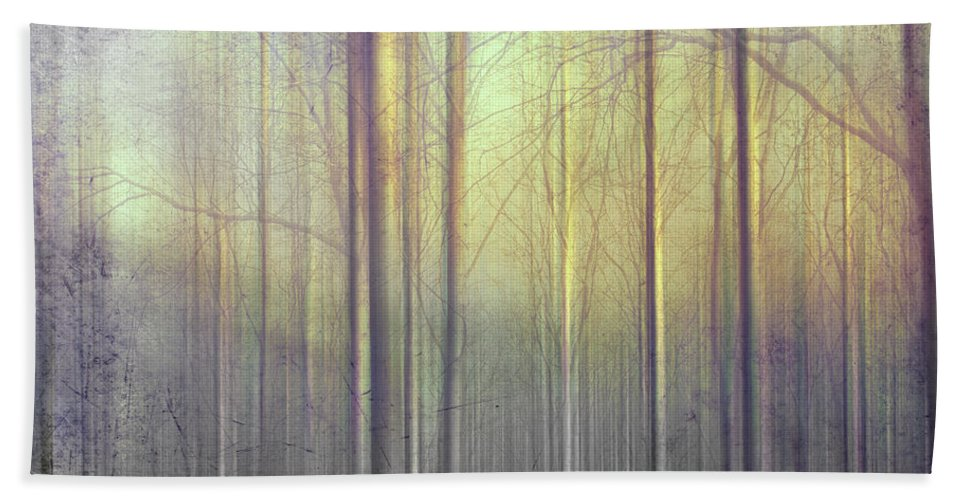 Trees Bath Sheet featuring the photograph Trees Abstraction by Mal Bray