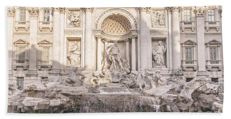 Trevi Bath Sheet featuring the photograph Trevi Fountain Rome by Sophie McAulay