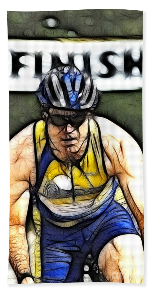 Sports Bath Sheet featuring the photograph Triathalon Competitor by Bob Christopher