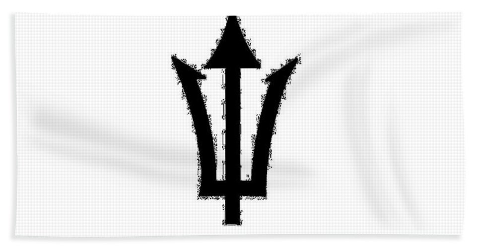 Trident Hand Towel featuring the digital art Trident by Frederick Holiday